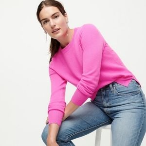 J. Crew Neon Pink Slim Cashmere Crewneck Sweater